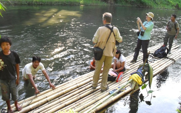 Crossing by Bamboo Rafting Dumoga Bone