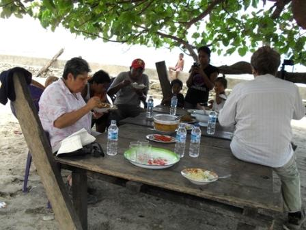 Lunch at the villagers house